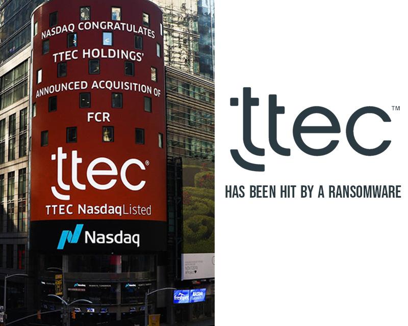TTEC has been hit by a Ragnar Locker ransomware